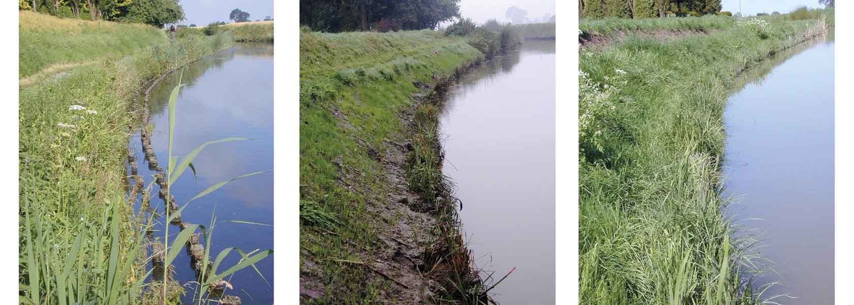 Aqualogs are used for soft bank protection and habitat creation as a more durable alternative to coir rolls
