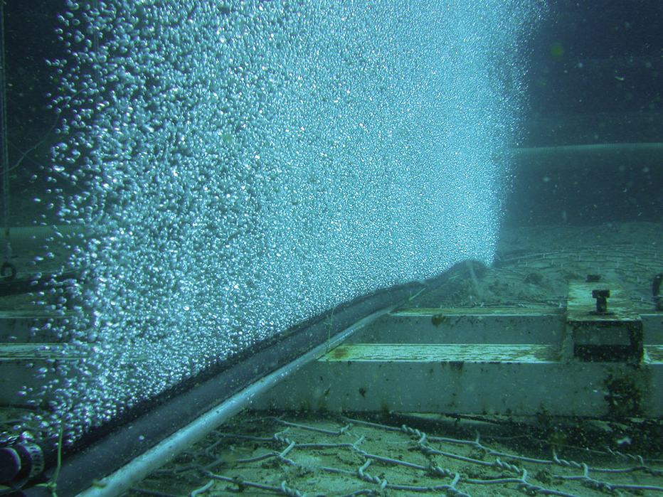 Silt Management And Fish Protection Using Bubble Barriers