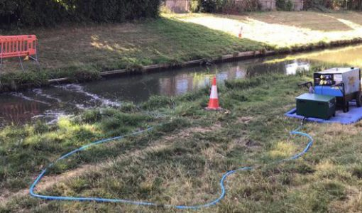 4 lines of Bubble Tubing powered by a single compressor were used to control silt pollution