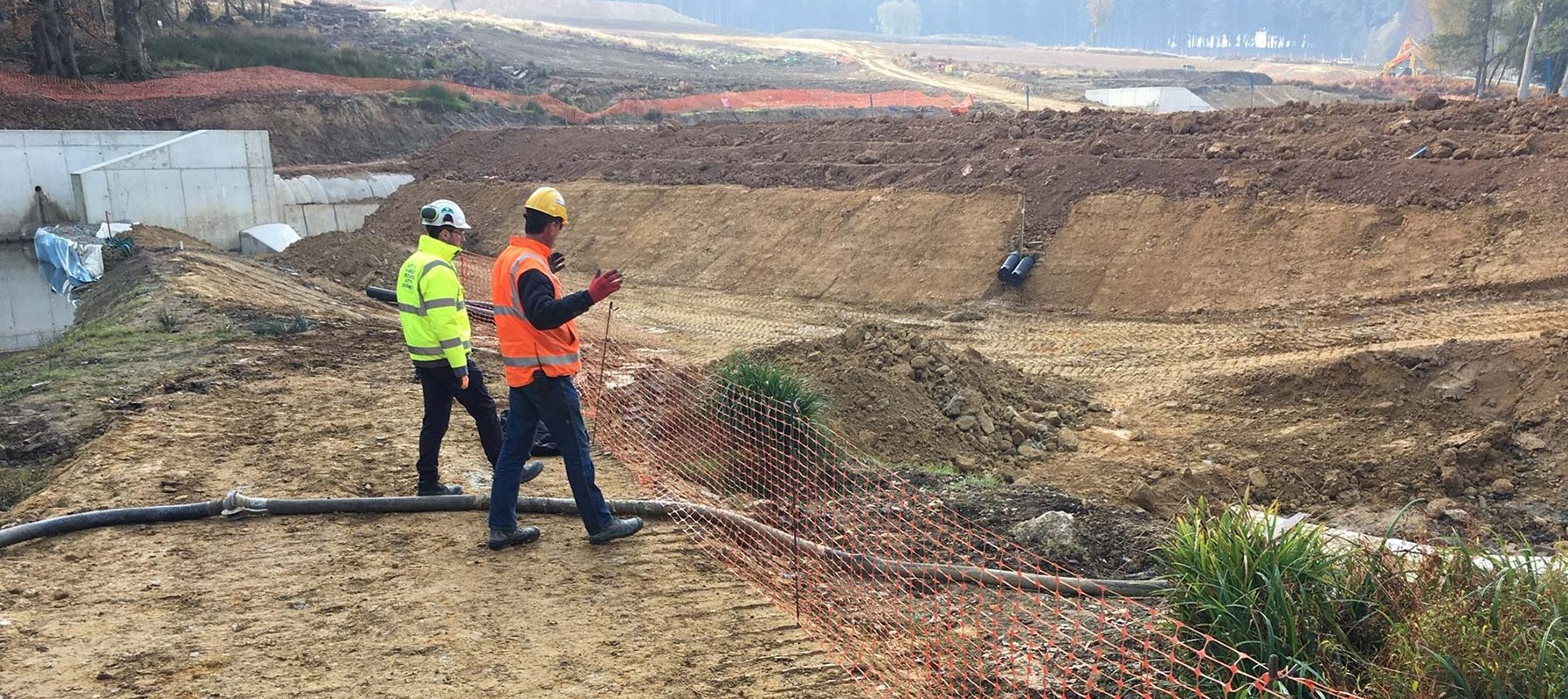 Pollution pathway identification and risk assessment on construction site